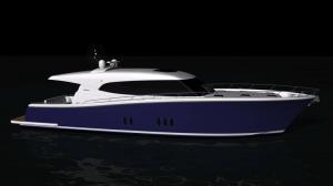 Maritimo S70 Sedan Cruiser Render