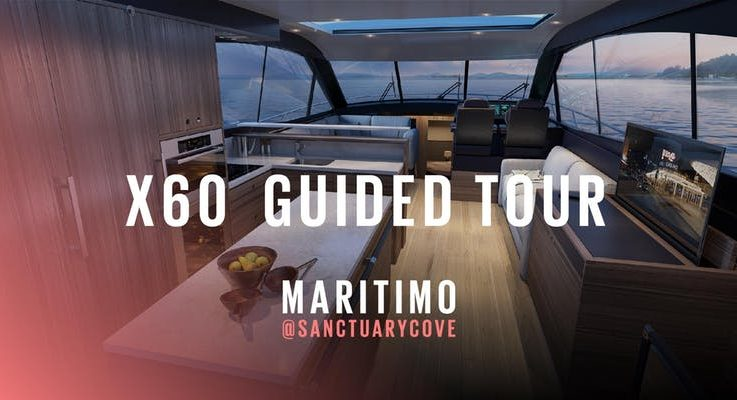 Maritimo X60 - World Launch at the 2018 Sanctuary Cove Boat Show
